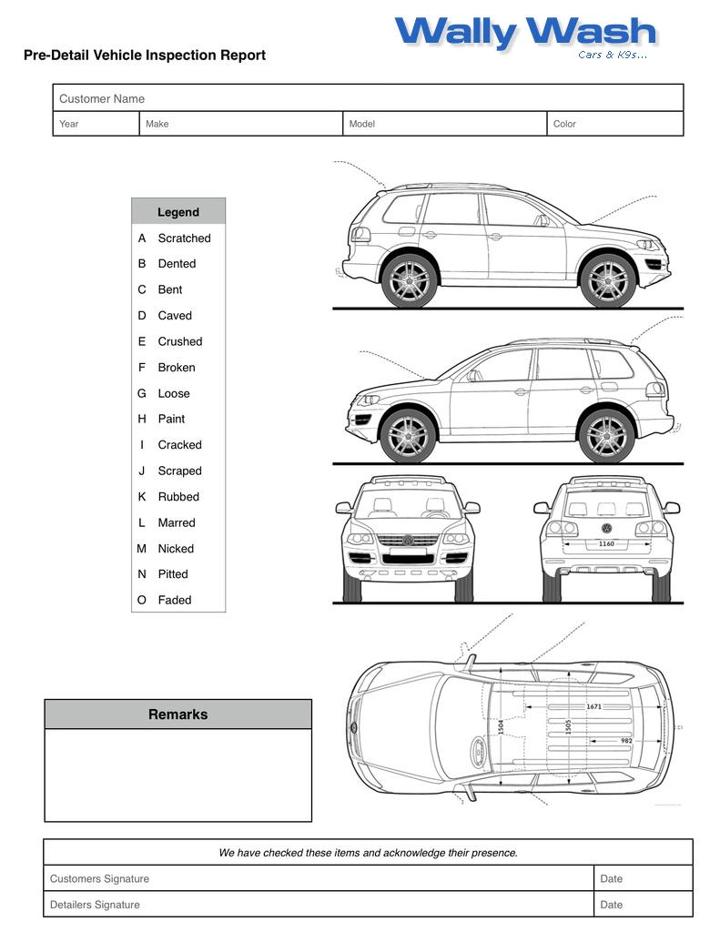 Vehicle Check In Sheet Pictures to Pin PinsDaddy – Vehicle Inspection Checklist Template